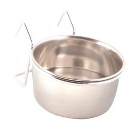 Миска для птиц - Trixie, Стальная миска с держателем, 150мл, 7см