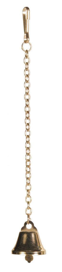Rotaļlieta putniem - TRIXIE Brass Bell with Chain, 18 cm