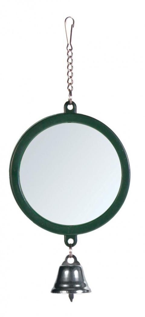 Игрушка для птиц – TRIXIE Mirror with Bell, 7,5 см title=