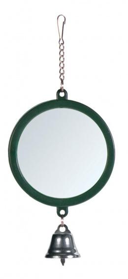 Игрушка для птиц – TRIXIE Mirror with Bell, 7,5 см
