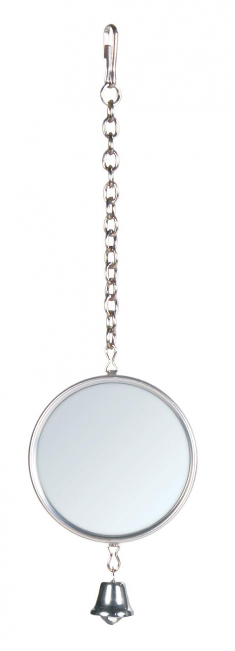 Игрушка для птиц - TRIXIE Mirror with Bell, on Chain title=