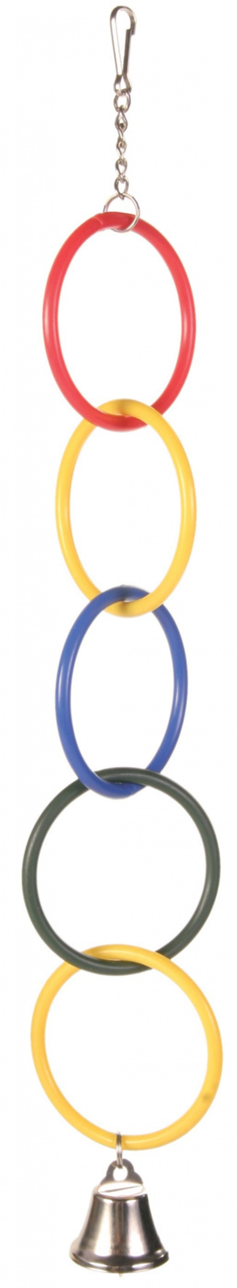 Rotaļlieta putniem - Plastic Rings with Bell