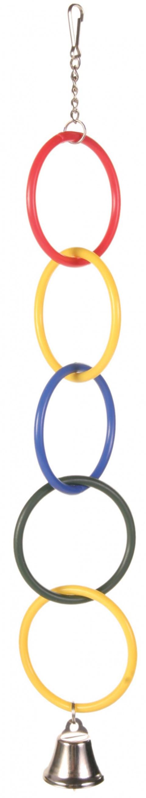 Rotaļlieta putniem - plastmasa Ringsl with Bell