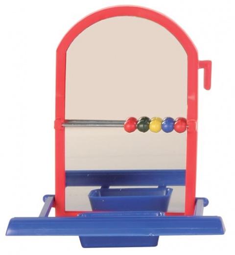 Игрушка для птиц – TRIXIE Perch Mirror, 8,5 см title=