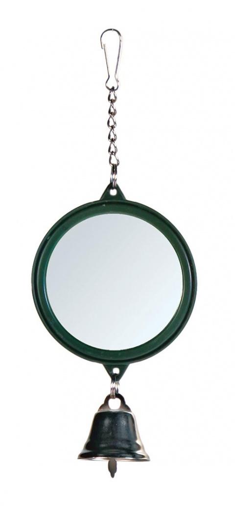 Игрушка для птиц - Зеркальце с колокольчиком 5.5cm title=