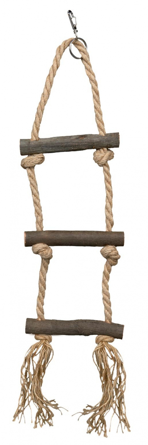 Šūpolītes putniem - Natural Living rope ladder, 3 rungs/40 cm