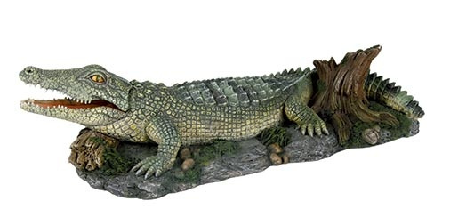 Dekors akvārijem - TRIXIE Crocodile with Air Outlet, 26cm