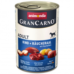 Консервы для собак - GranCarno Plus Adult Smoked eel & potatoes, 400 г