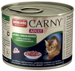 Konservi kaķiem - Carny Adult Beef, Venison, Cranberries, 200 g