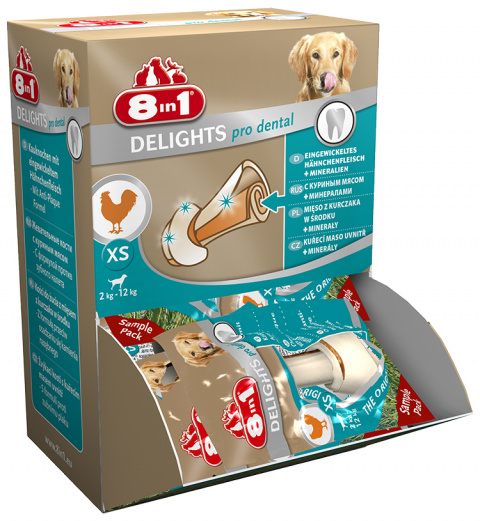 Gardums suņiem -  8in1 Dental Delights XS box, 1 gab.