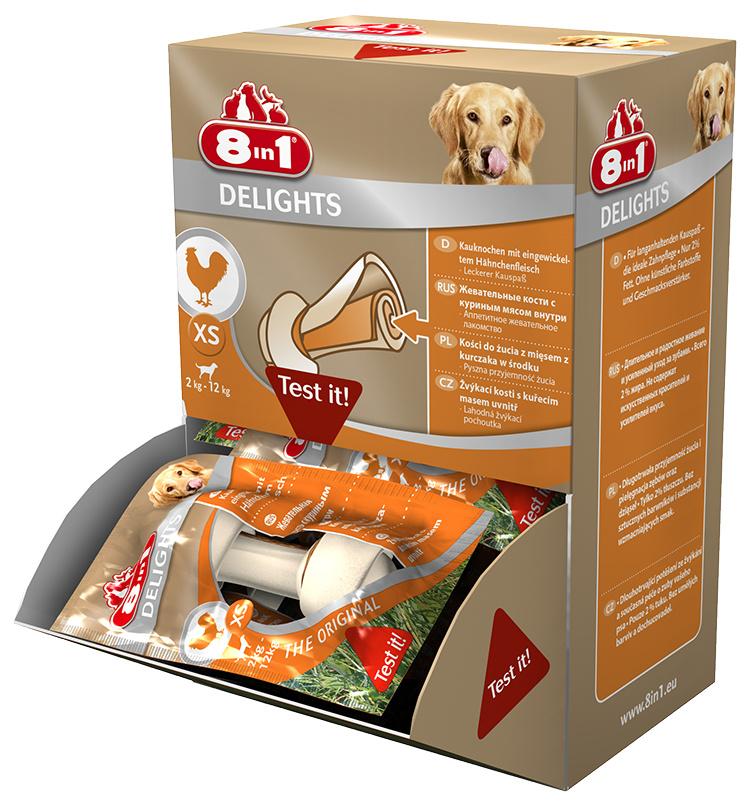 Gardums suņiem - 8in1 Delights XS box, 1 gab.