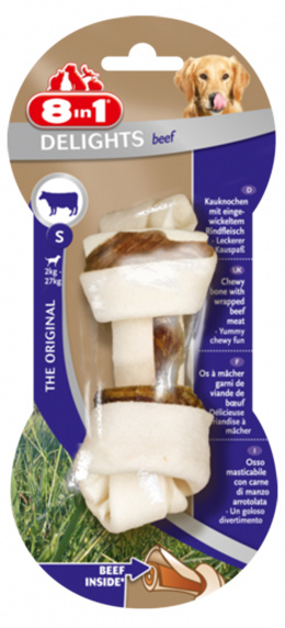 Gardums suņiem - 8in1 Delights Beef bones S, 1 gab.
