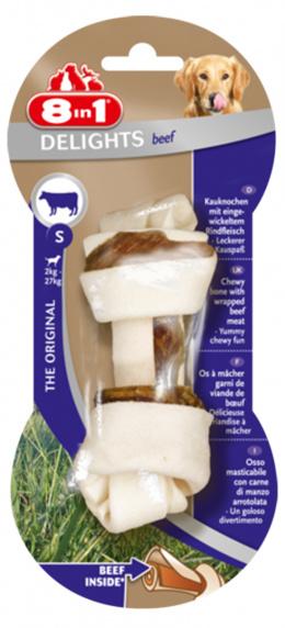 Лакомство для собак - 8in1 Delights Beef bones S, 1 шт.