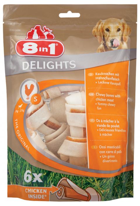 Gardums suņiem - 8in1 Delights S bones, 6 gb