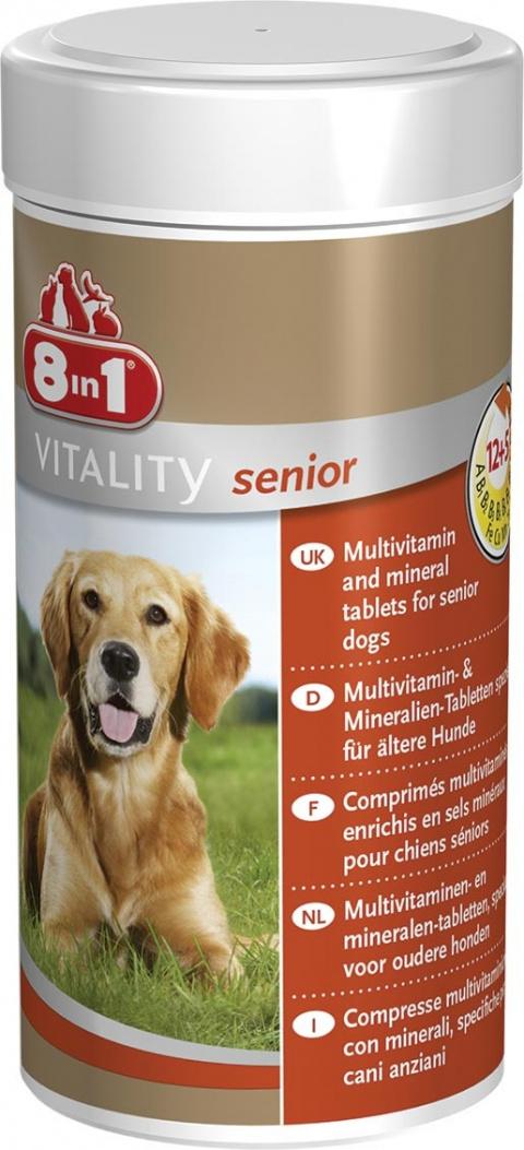 Vitamīni senioriem suņiem  - 8 in 1, Multi Vitamin, Tabletes, 70 tab. title=