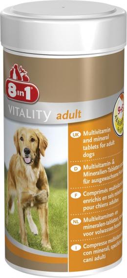 Vitamīni pieaugušiem suņiem - 8 in 1, Vitality, Tabletes, 70 tab.