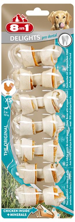 Лакомство для собак -  8in1 Dental Delights XS, 7шт.
