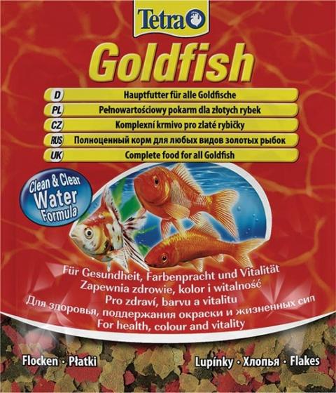 Barība zivīm - Tetra Goldfish Flocken 12g title=