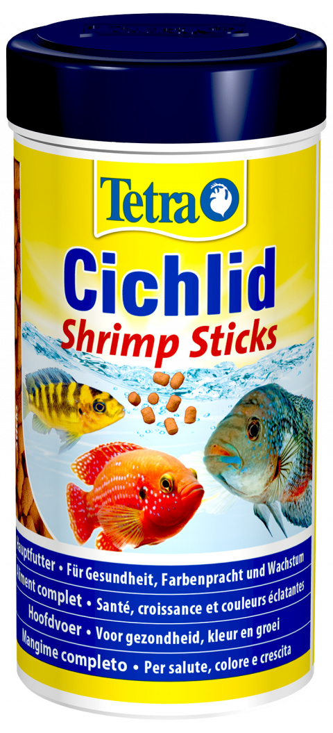 Barība zivīm - Tetra Cichlid Shrimp Sticks, 250 ml title=