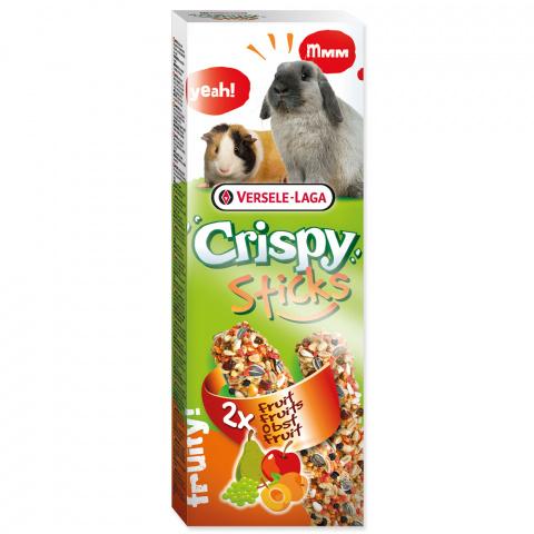 Gardums grauzējiem – Versele-Laga Crispy Sticks for Rabbit and Guinea Pig, Fruit, 110 g title=