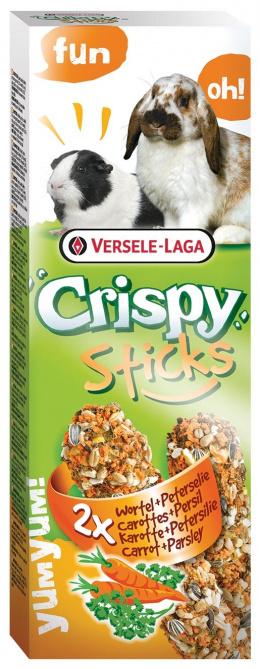 Лакомство для грызунов - Crispy Sticks for Rabbit & Guinea Pig / с морковью и петрушкой 110 gr