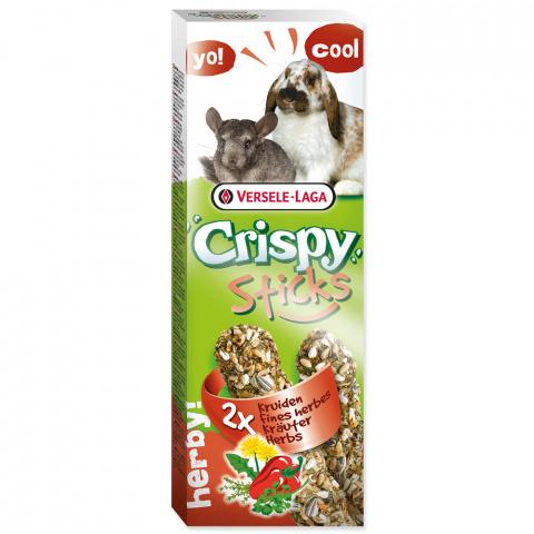 Gardums grauzējiem – Versele-Laga Crispy Sticks for Rabbit and Chincilla Herbs, 110 g title=