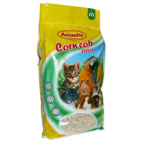 Kukurūzas pakaiši dzīvniekiem - AVICENTRA, Corn cob litter (coarse), 10 l title=