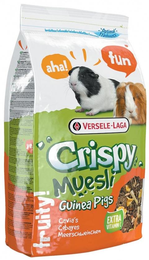Barība jūras cuciņām - Crispy Muesli Guinea Pigs 1 kg title=