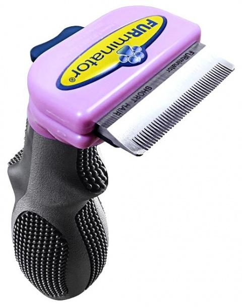 Расческа-фурминатор для кошек - FURminator deShedding tool, для короткой шерсти, S title=