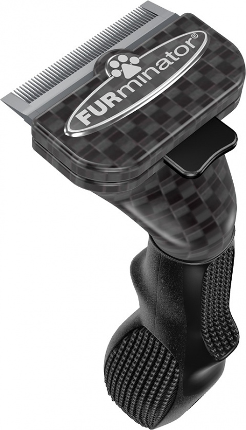 Ķemme suņiem - FURminator deShedding tool Limited Edition, hair short, S title=