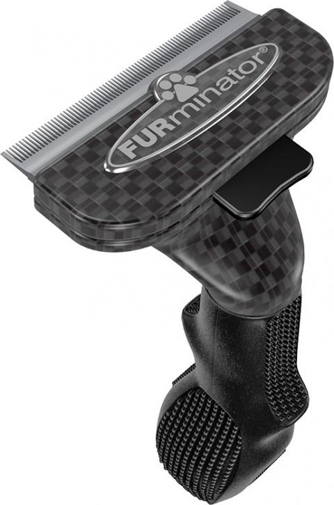 Расческа-фурминатор для собак - FURminator deShedding tool Limited Edition, для короткой шерсти, M title=