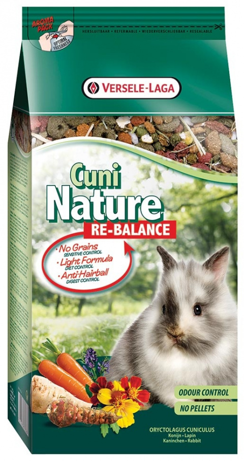 Barība trušiem - Versele-Laga Prestige Cuni Nature Re-Balance 700 g title=