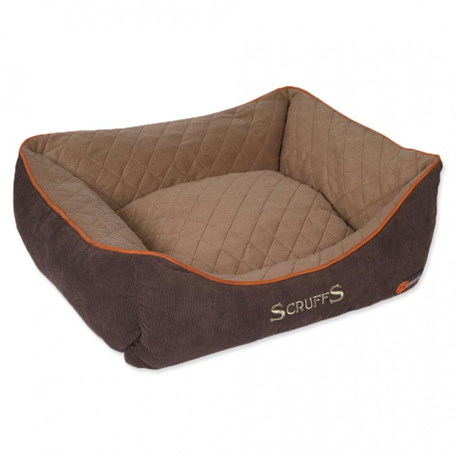Guļvieta suņiem – Scruffs Thermal Box Bed (S), 50 x 40 cm, Brown