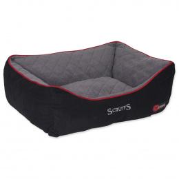 Guļvieta suņiem - Scruffs Thermal Box Bed (L), 75*60cm, melna