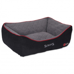 Спальное место для собак - Scruffs Thermal Box Bed (L), 75*60cm, черный