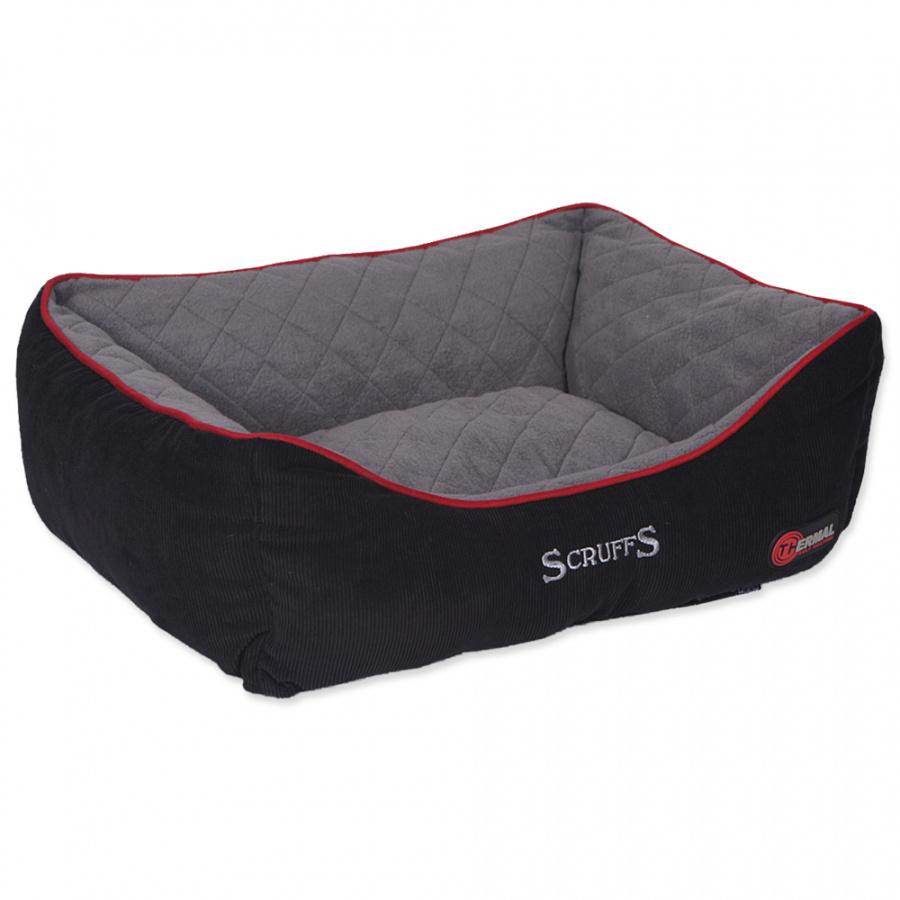 Guļvieta suņiem – Scruffs Thermal Box Bed (M), 60 x 50 cm, Black