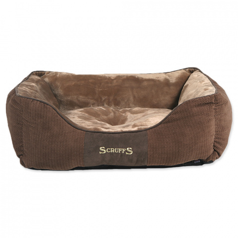 Спальное место для собак – Scruffs Chester Box, Chocolate (M), 60 x 50 см title=