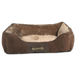 Спальное место для собак – Scruffs Chester Box, Chocolate (L), 75 x 60 см