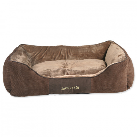 Спальное место для собак – Scruffs Chester Box, Chocolate (XL), 90 x 70 см title=