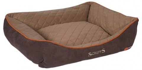 Guļvieta suņiem - Scruffs Thermal Box Bed (XL), 90*70cm, brūna