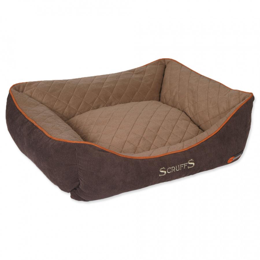 Guļvieta suņiem – Scruffs Thermal Box Bed (L), 75 x 60 cm, Brown