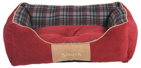 Спальное место для собак - Scruffs Highland Dog Bed М, 60*50 см, red title=