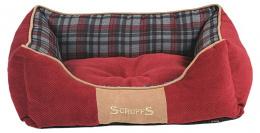 Спальное место для собак - Scruffs Highland Dog Bed S, 50*40 см, red