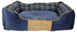 Guļvieta suņiem -  Scruffs Highland Dog Bed L, 75*60 cm, blue