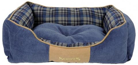 Спальное место для собак - Scruffs Highland Dog Bed М, 60*50 см, blue