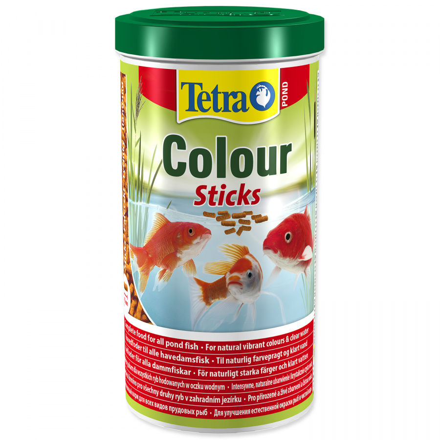 Bar­ība dīķa zīvī­m - Tetra Pond Colour Sticks, 1000 ml