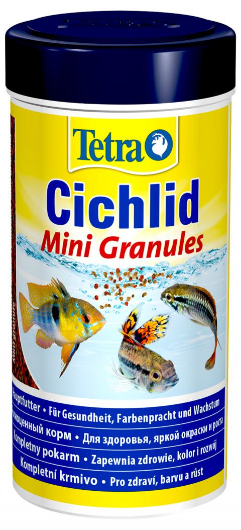 Barība zivīm - Tetra Cichlid Mini Granules, 250 ml title=