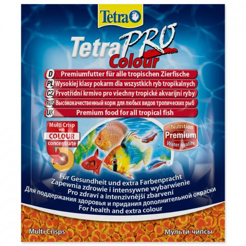 Barība zivīm - Tetra Pro Colour Crisps Sachet 12gr