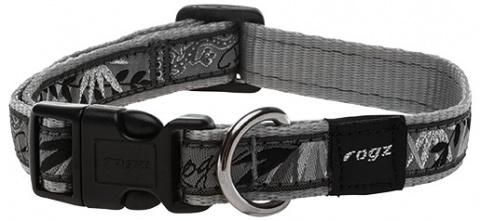 Kakla siksna suņiem - Rogz Fancy Dress Silver Gecko, M, 26-40 cm title=