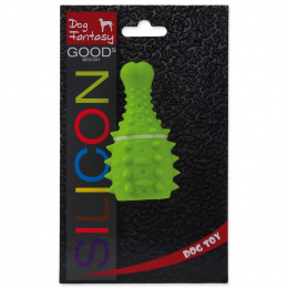 Игрушка для собак - DogFantasy Good's Силиконовая мягкая игрушка, куриная ножка, 10*5.3cm, зеленый